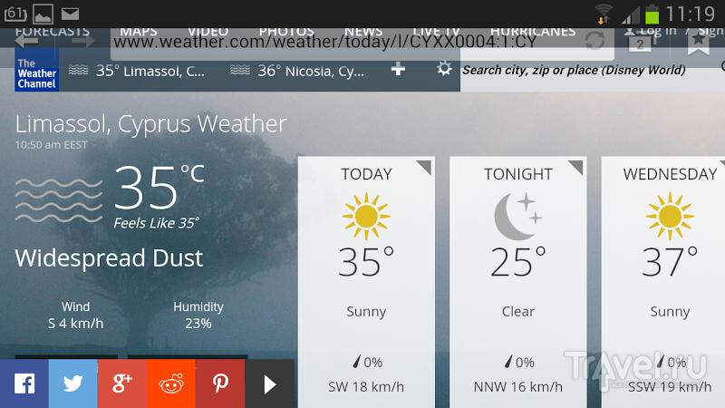 Тьма, пришедшая со стороны Средиземного моря - пыльная буря в Лимассоле / Кипр
