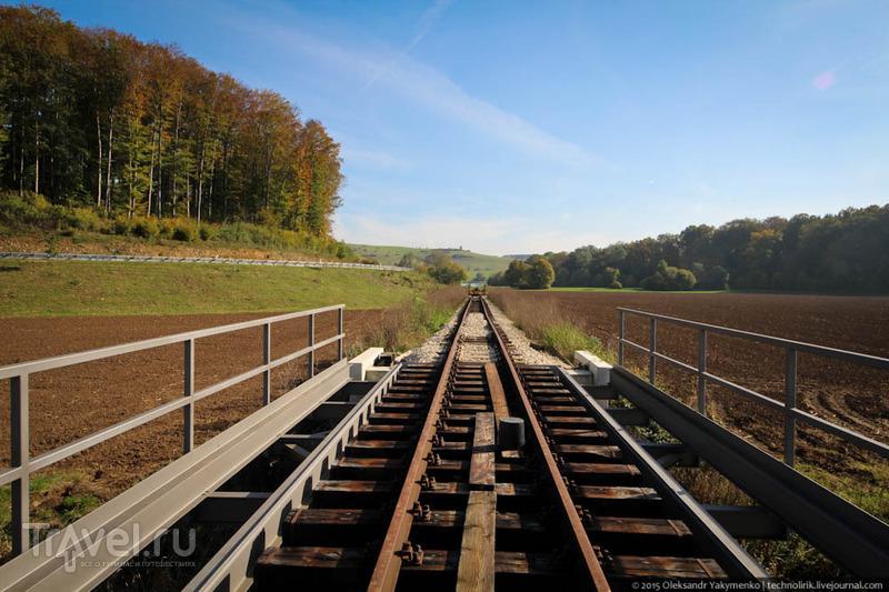 Осенняя прогулка вдоль узкоколейки Härtsfeldbahn / Фото из Германии