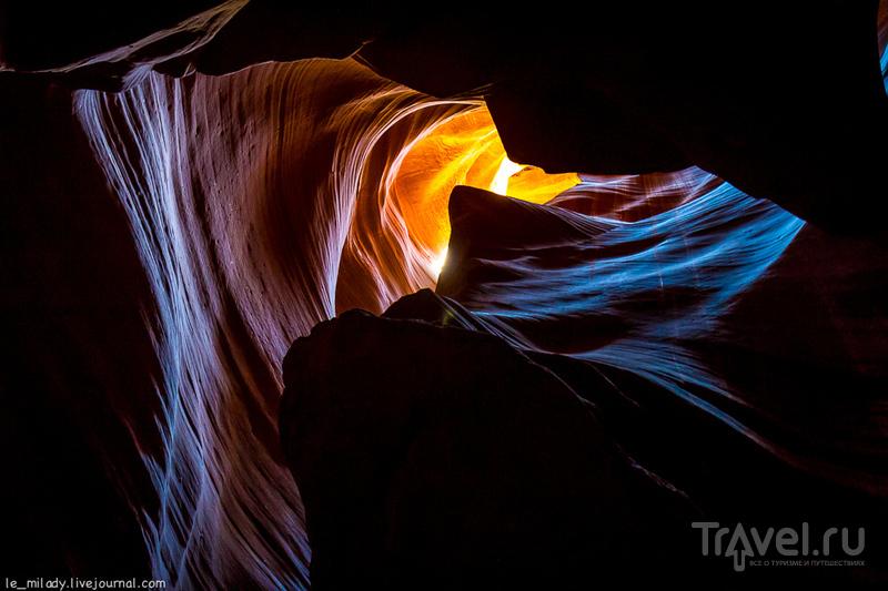 Каньон, созданный дождевой водой / Фото из США