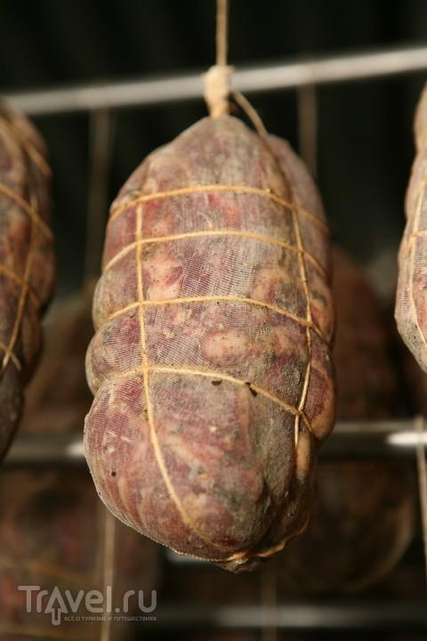 Мясо в Аосте. Моцетта и коппа / Италия