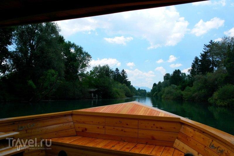 Речная прогулка по Люблянице / Словения