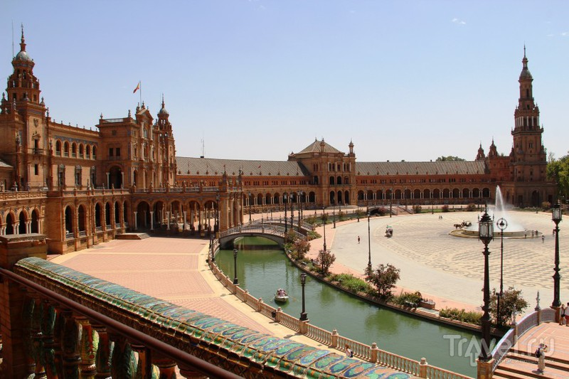 Визитная карточка Севильи - Площадь Испании / Испания