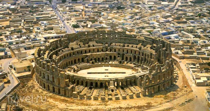 Кровь и песок. Величественный амфитеатр Эль-Джем (El Jem). Тунис, Африка / Фото из Туниса