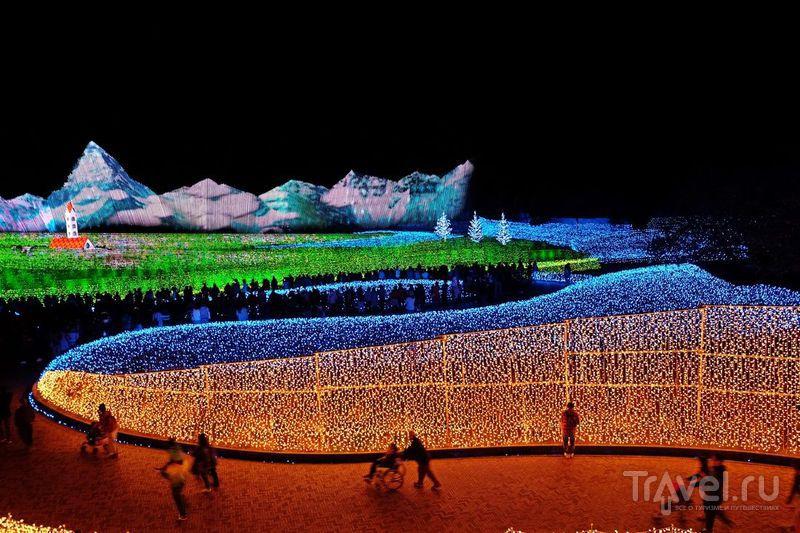 Япония: Фестиваль света - Набана Но Сато / Фото из Японии
