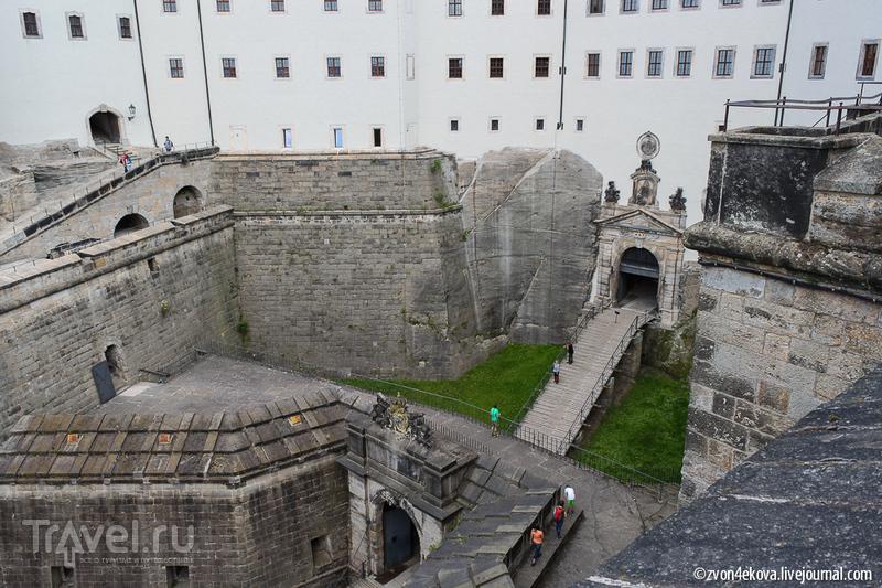 Германия. Неприступная крепость Кёнигштайн / Фото из Германии