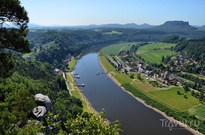 Лес, скалы, река, крепость. Бастай и Кенигштайн, Саксония