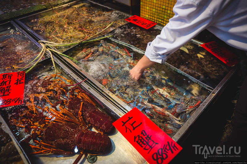 Китай, Шэньчжэнь: улица морской еды / Китай