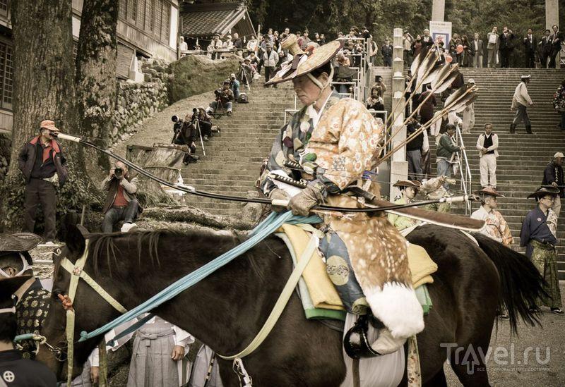 Ябусамэ - японское искусство конной стрельбы из лука / Фото из Японии