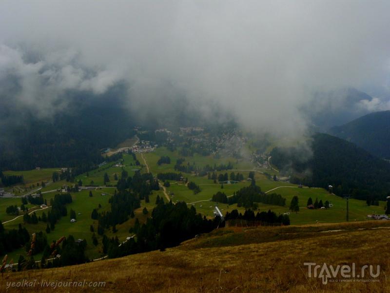 Девять дней в Доломитах. Каресса - Пасс ди Виалон. Доломиты в тумане / Фото из Италии