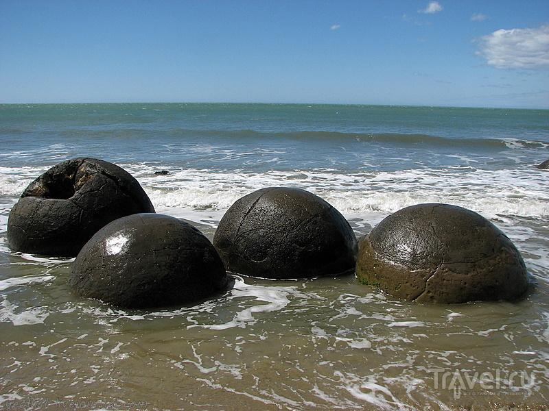 В стране антиподов. Моераки Болдерс - покинутый флот пришельцев / Фото из Новой Зеландии