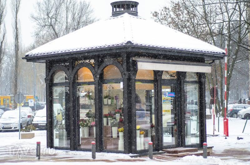 Лодзь. Снег. Мануфактура / Польша