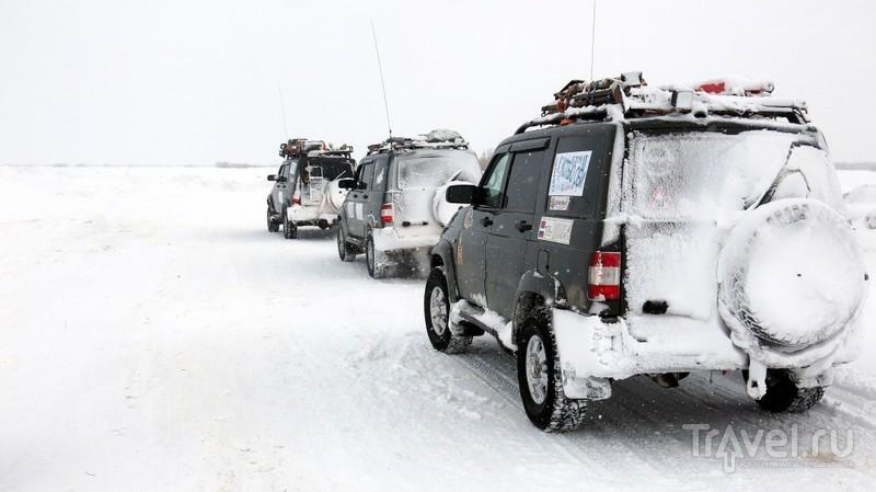 Метель на зимнике Лабытнанги - Приобье / Россия