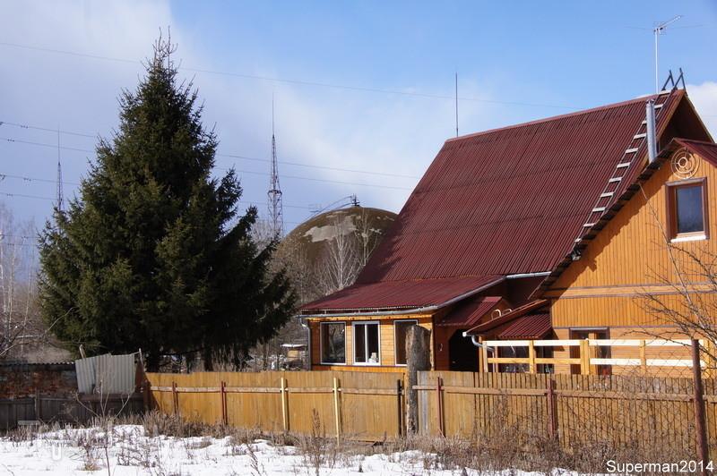 Остатки огромного купола в Истре / Россия
