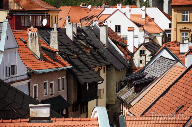 Крыши Крумлова / Фото из Чехии