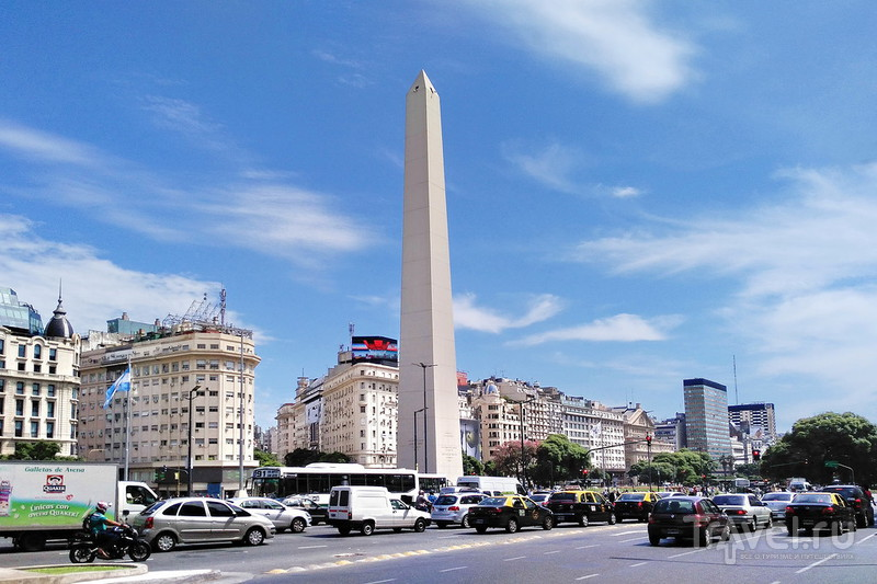 Проспект 9 июля в Буэнос-Айресе / Фото из Аргентины