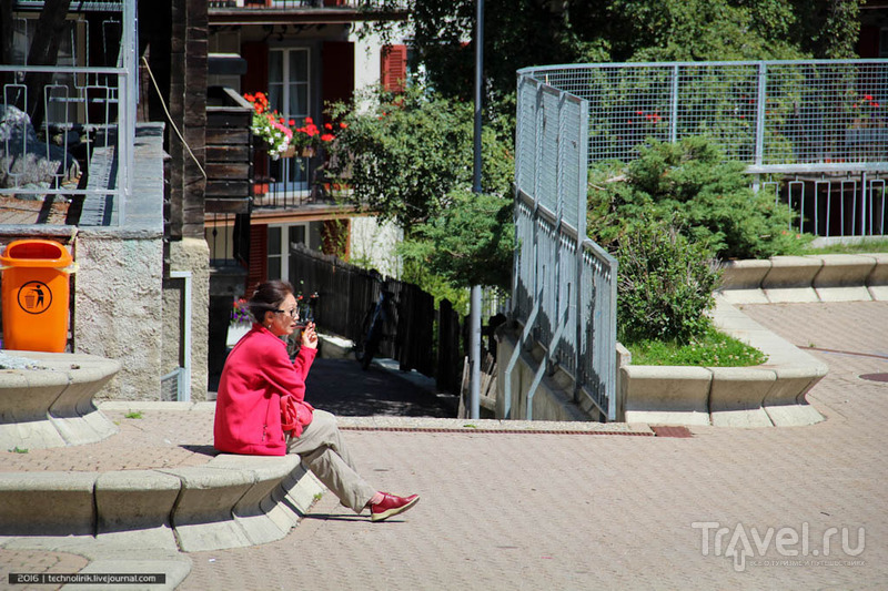 Церматт - город без автомобилей / Фото из Швейцарии