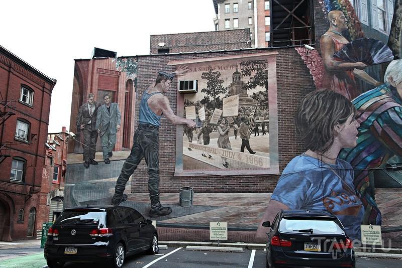 """""""Разрисованные"""" стены Филадельфии / Фото из США"""