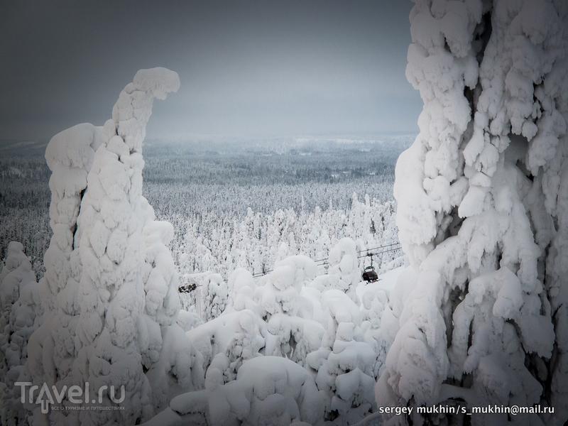 Рука (Ruka)... Город 66º09.95'N 29º09.09'E... / Финляндия