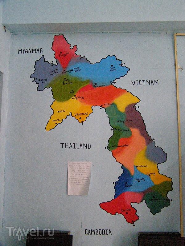 """Лаос. Вьентьян. Хостел """"Удачливый бэкпэкер"""" и национальная еда / Лаос"""