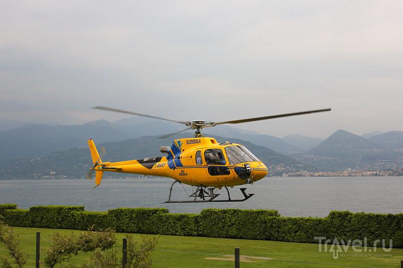 Полёт на вертолёте над озером Лаго-Маджоре / Фото из Италии