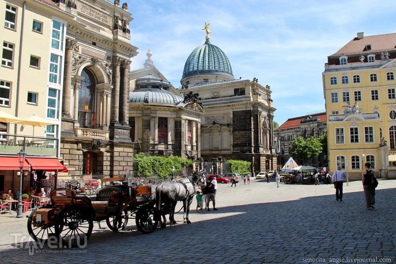 Дрезден за один день. Кройцкирхе, Фрауэнкирхе, площадь Георга Треу / Германия