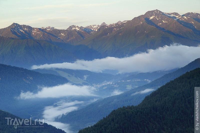 Горная хижина Brunnsteinhütte - горы, лес и облака... / Фото из Германии