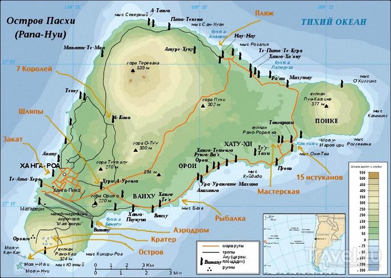 Истуканы острова Пасхи / Фото из Чили