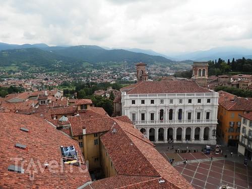 Бергамо - географические карты и панорама города / Италия
