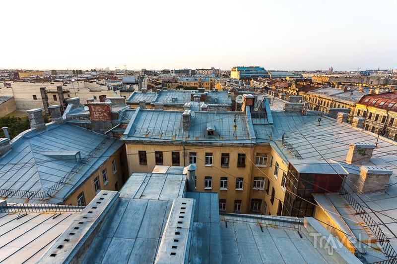 Экскурсия по необыкновенным Питерским крышам / Россия