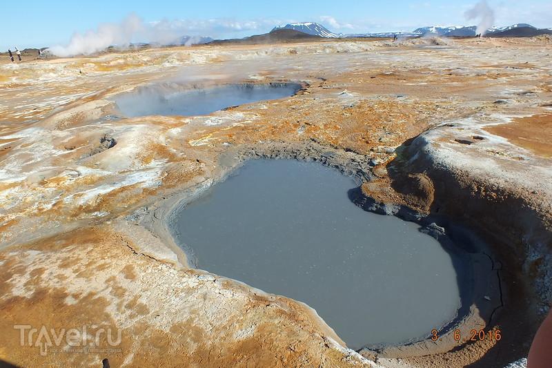 Исландия. Долина гейзеров Hverir. Город Husavik / Исландия