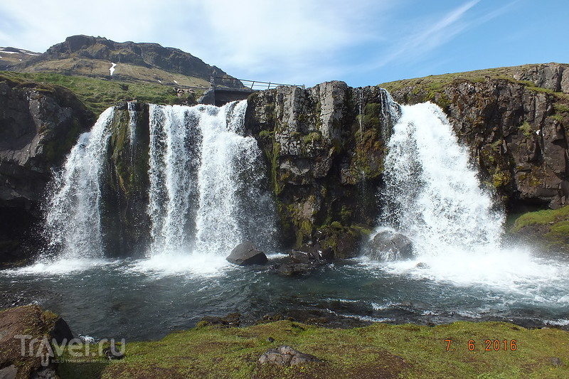 Исландия. Водопад Kirkjufellsfoss. Пляж Skardsvik. Cкалы Londrangar / Фото из Исландии
