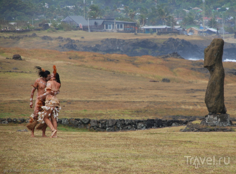 Остров Пасхи. Аху Тахай и рапануйская свадьба людей-птиц / Фото из Чили