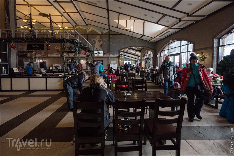 Обзор еды на курорте Роза Хутор. Столовые и фаст фуд / Фото из России