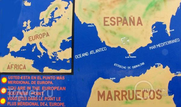 Карта Европы и Африки / Фото из Испании