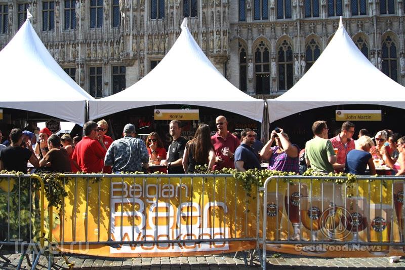 Палатки на Бельгийском пивном уик-энде / Бельгия