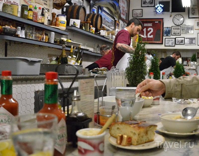 Ресторан Swan Oyster Depot в Сан-Франциско / США