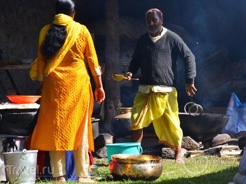 Мужчина в дхоти / Фото из Индии