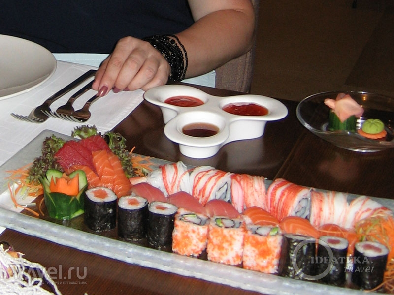 Японская кухня в отеле Kempinski Hotel Ishtar / Фото из Иордании