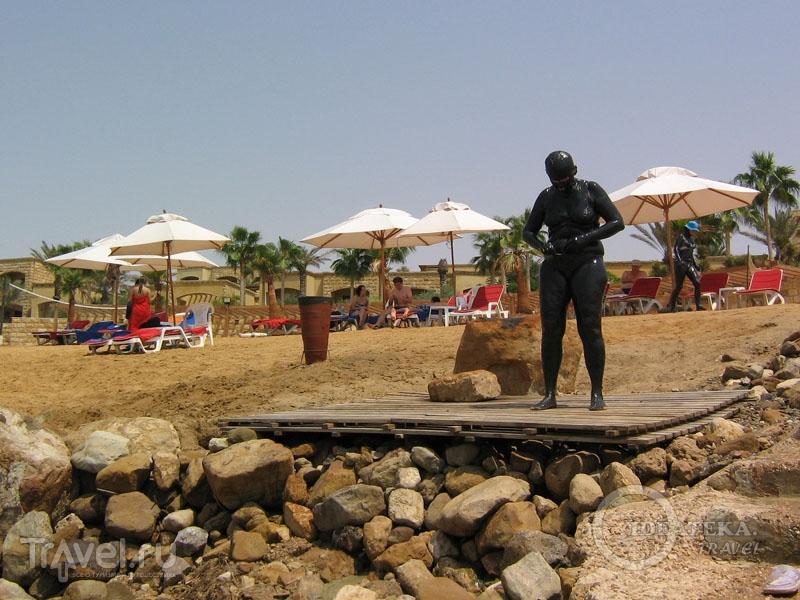 Пляж на берегу Мертвого моря / Фото из Иордании