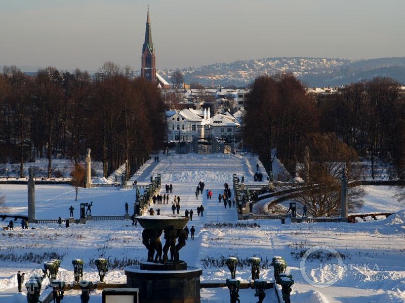 Парк Вигеланда, Осло / Фото из Норвегии