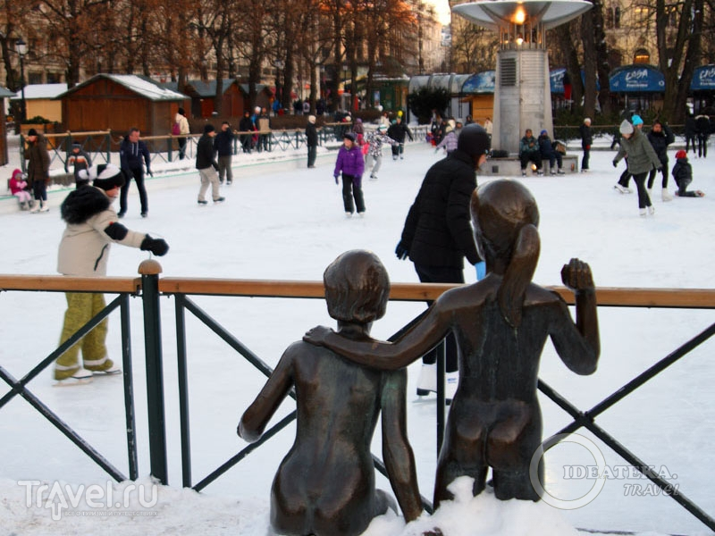 Каток в центре Осло / Фото из Норвегии