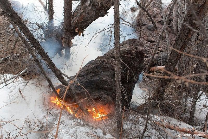Извержение с земли  / Фото из России