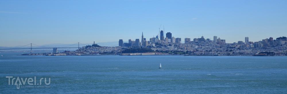 Вид на Сан-Франциско с моста Золотые Ворота / Фото из США