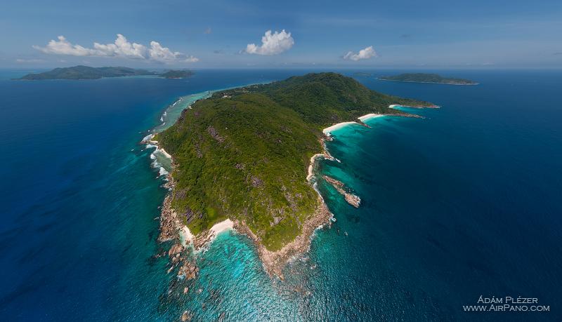 Остров Ля Диг с высоты 410 метров. Сейшельские Острова / Фото с Сейшел