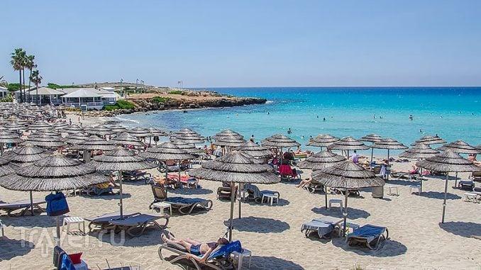 Nissi beach в Айя-Напе / Фото с Кипра