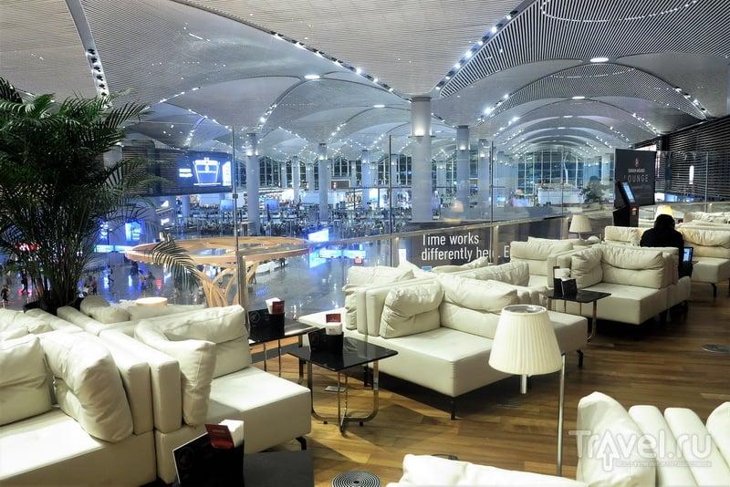 Вид на паспортный контроль и вход в чистую зону из Miles&Smiles Lounge / Турция
