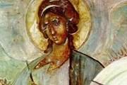 Архангел Гавриил, фреска церкви Успения на Волотовом поле // pravoslavie.ru