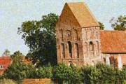 """Церковь в Зуурхузене признана """"самым падающим"""" зданием в мире. // kirche-suurhusen.de"""