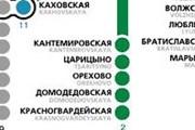 Фрагмент схемы линий московского метро // mosmetro.ru
