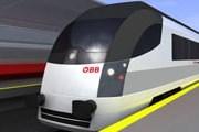 Эскиз внешнего вида поезда railjet // oebb.at